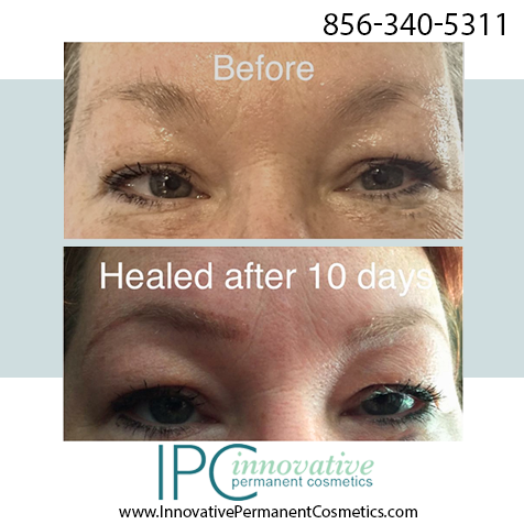 Permanent cosmetic makeup procedure photo gallery for Tattoo eyebrows nj